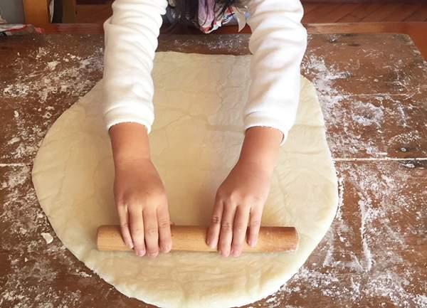 preparazione di mochi