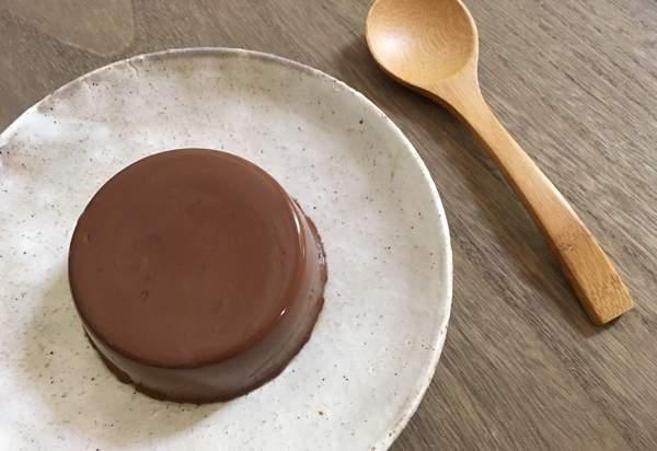 budino con kanten al cioccolato