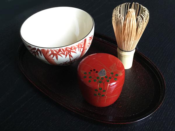 utensili per la cerimonia del té