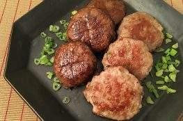 funghi ripieni con carne allo zenzero