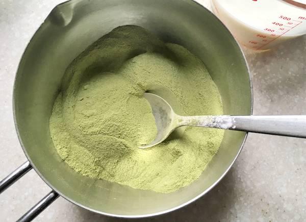 ricetta di gelato al matcha