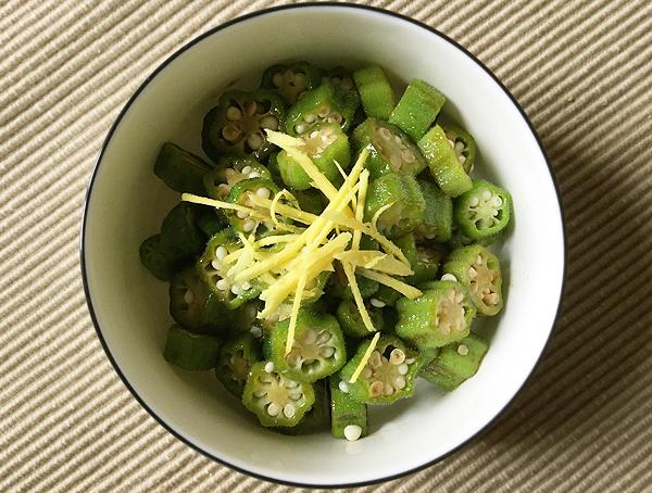 ocra alla salsa di soia e zenzero