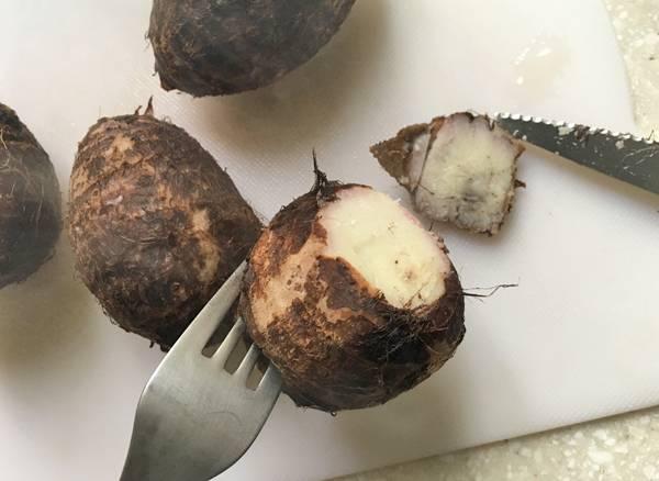 ricetta di polpette di taro