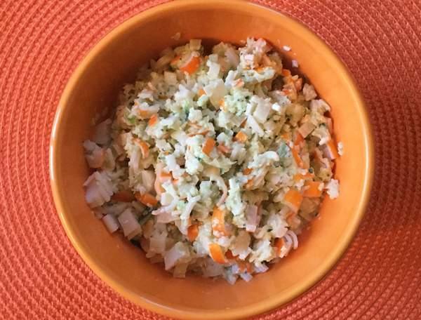 salsa con surimi e maionese