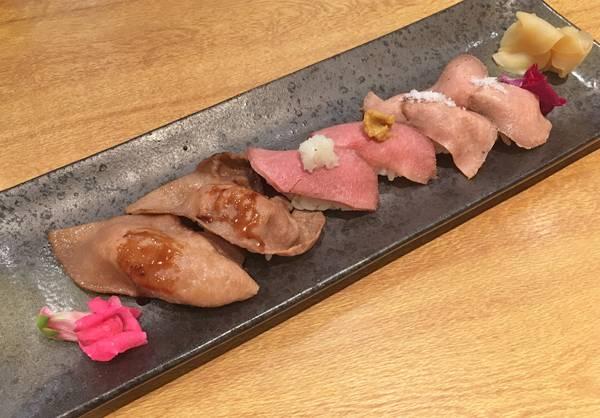 sushi con carne