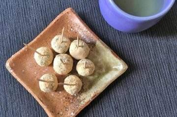 tartufini con farina di soia tostata