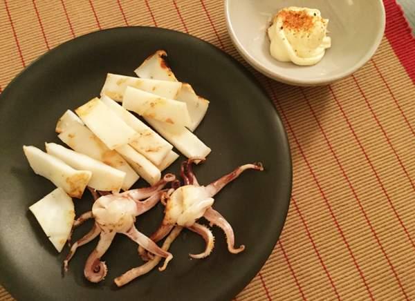 calamari essiccati alla griglia