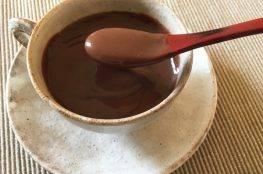 cioccolata calda con fecola di kuzu