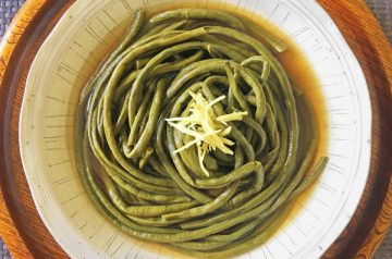 fagiolini cotti in brodo dashi