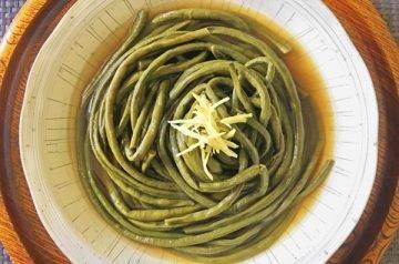 fagiolini cotti in brodo dashi