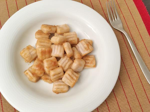 Gnocchi di taro al burro e miso