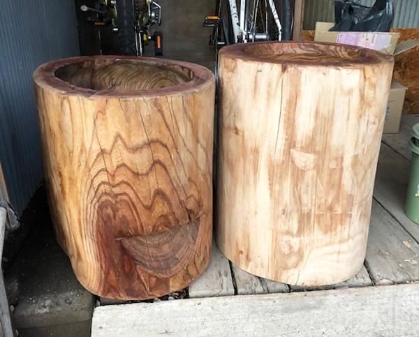 Mortaio di legno massello