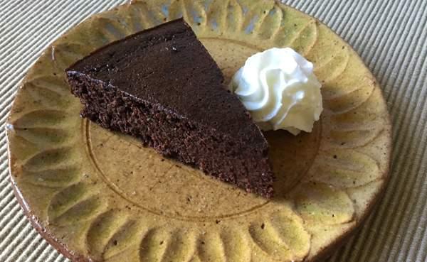 torta di okara con cacao