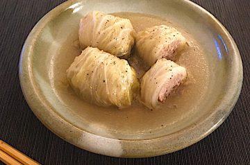 Involtini di carne con cavolo cinese