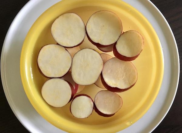patata dolce cotta al limone