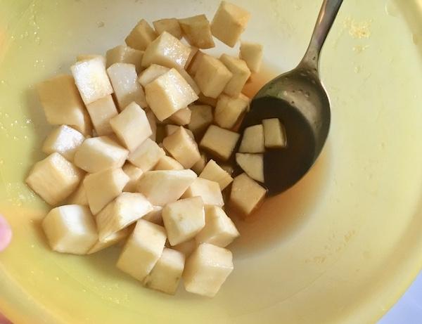 dolcetto di patata dolce oni manju