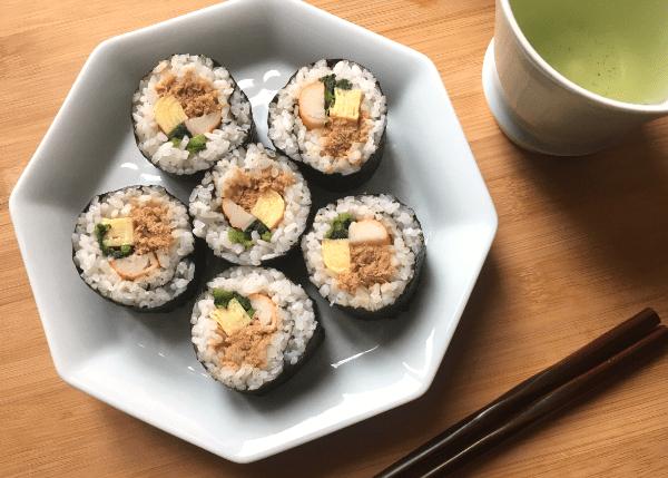 ricetta di sushi arrotolato