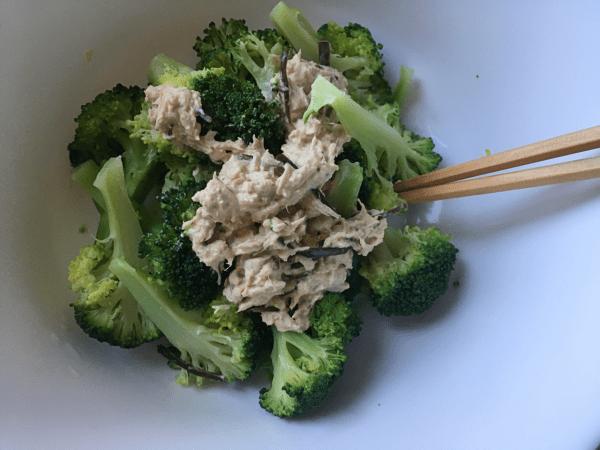 Broccoli con tonno e shiokombu