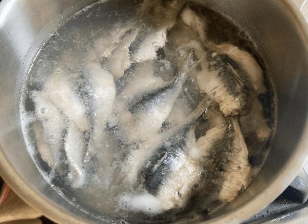 sardine cotte con ume e zenzero