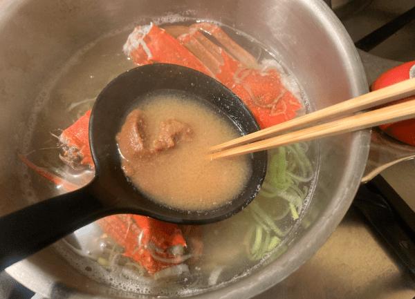 Brodo di granchio al miso