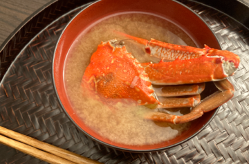 zuppa di miso con granchio