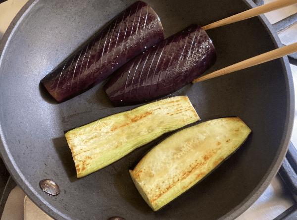 Melanzana arrostita con salsa di miso alle noci