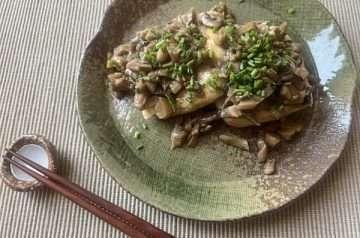 bistecchina di tofu con funghi